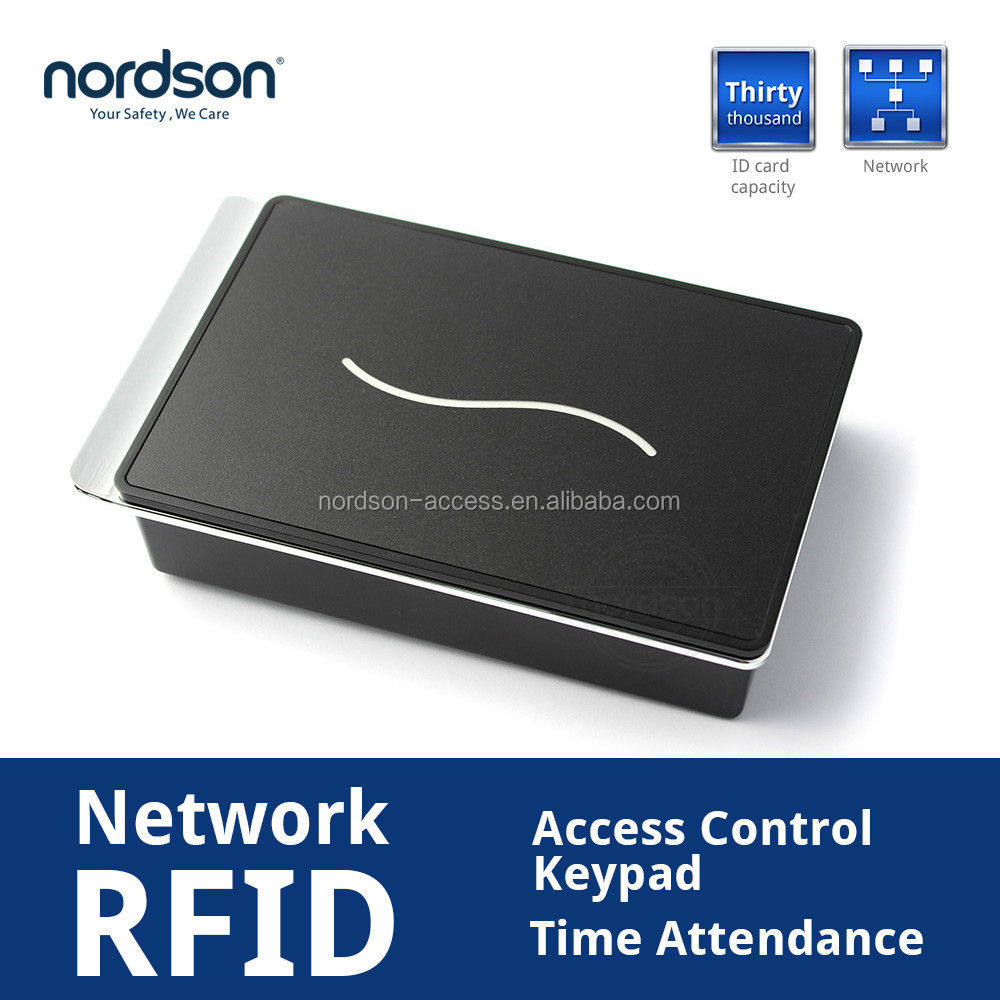 Nordson SCR100 Network RFID Access Control Keypad&TimeAttendance with Security door lock access control