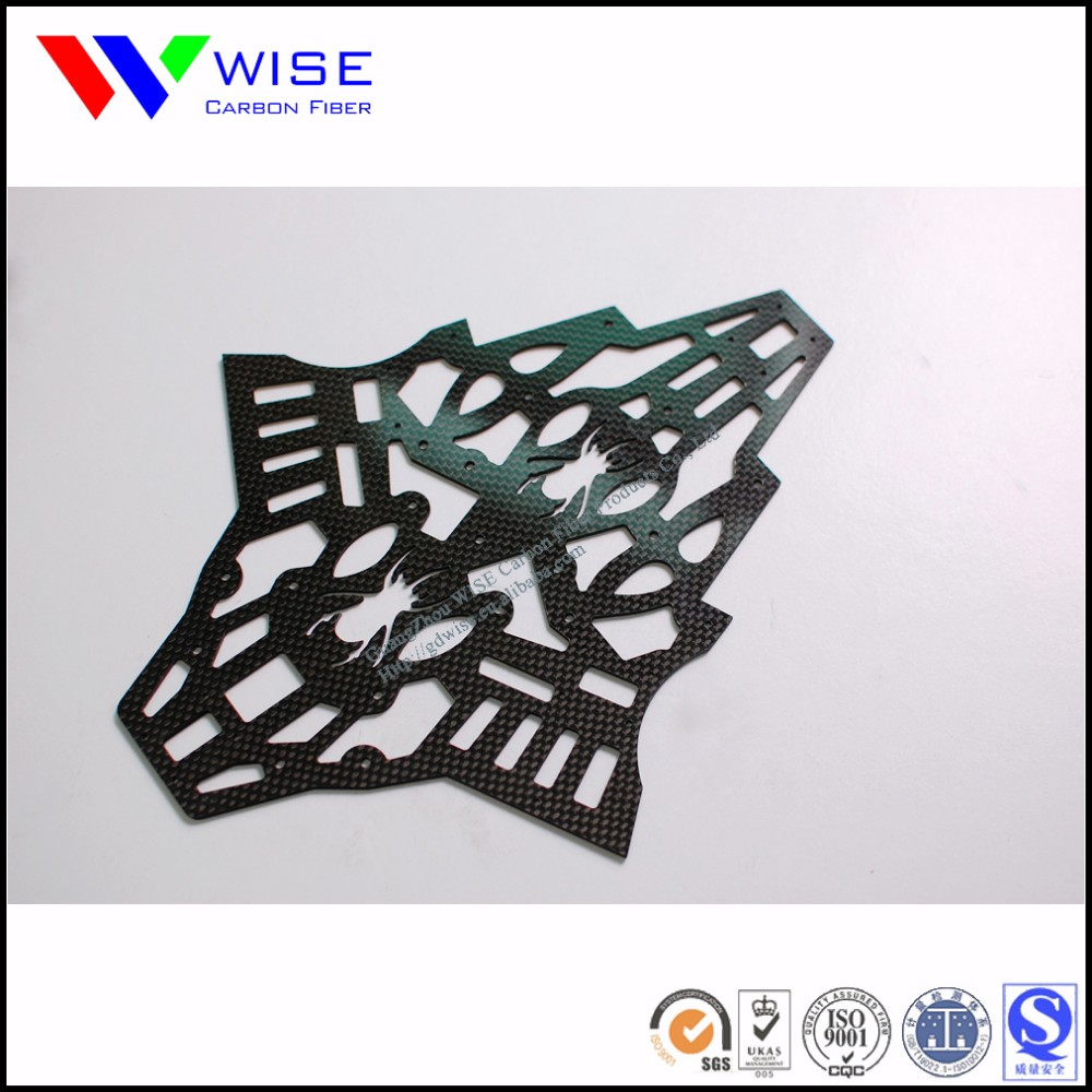 offer low price fast delivery high quality cnc process carbon fiber drone parts