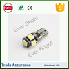 Free shipping 90LM 5050 5 Smd Error Free t10 5w5 canbus car led auto bulb,w5w led bulb canbus