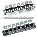Short pitch conveyor roller chain attachment