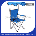 OUTDOOR STEEL FOLDING CAMPING CHAIR WITH CANOPY