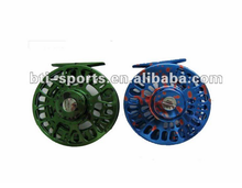 Double colored fly fishing reel