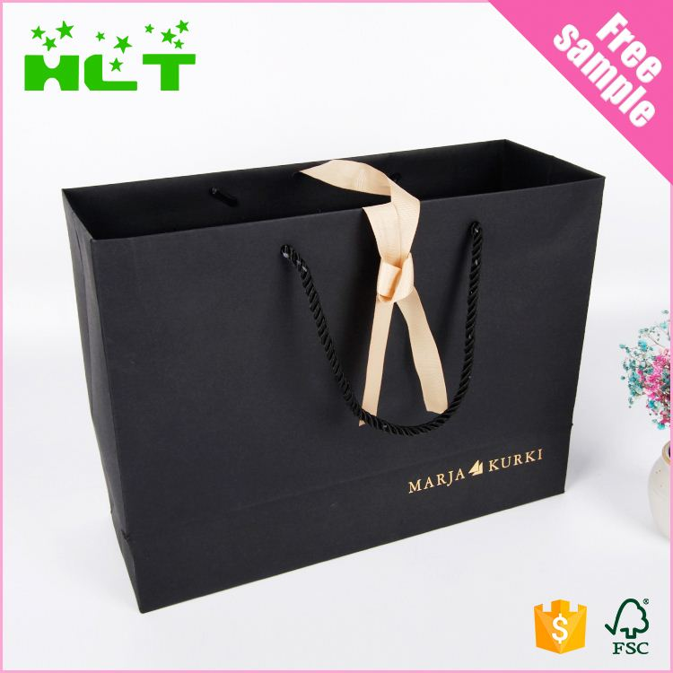 Chinese Supplier Black Kraft Paper shopping bag gift bag with cheap price
