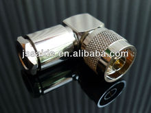 N male right angle clamp connector for RG213 cable
