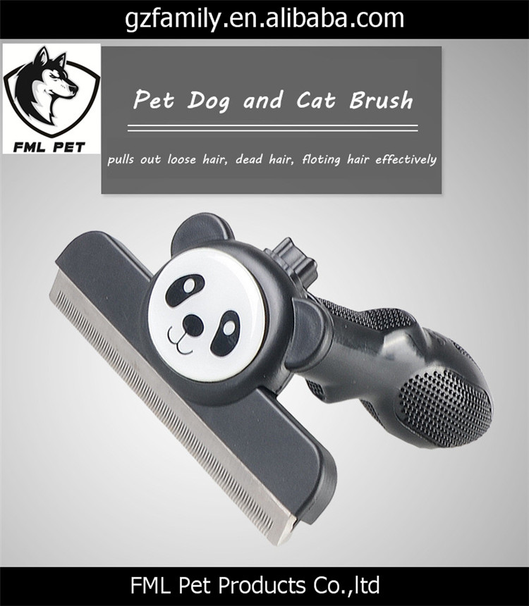 Cute Animals Design Pet Dogs and Cats Hair Brush for Shedding