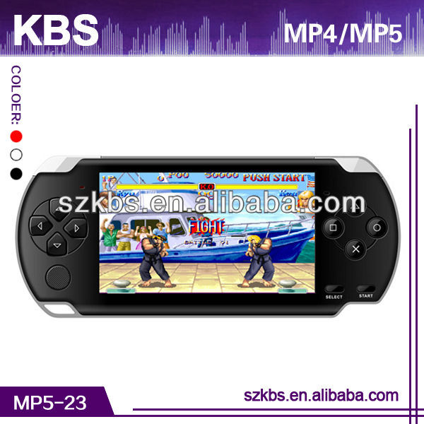 "High Quality 4.3"" TFT Screen Digital Mp4 Mp5 Player Game Download Support 32 Bit Bin Games,2MP Camera"