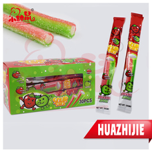262201610 Hot Selling Double Colors Sour Stick Gummy Candy