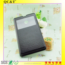 PC+PU window leather case For Nokia X/A110