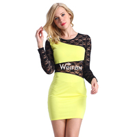 Only one long sleeve lace smart elegant club dress