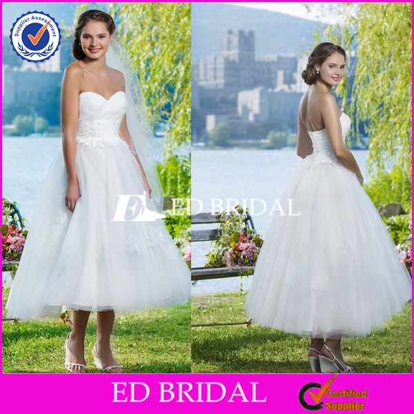 JW55 Plus Size Sweetheart Pleated Appliques Tulle Big Size Short Country Wedding Dresses