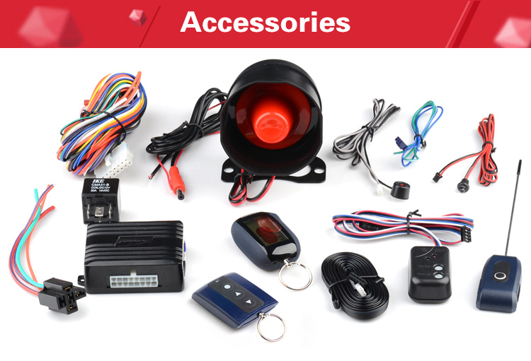 Latin America 2 way car alarm system LCD remote Small main Unit