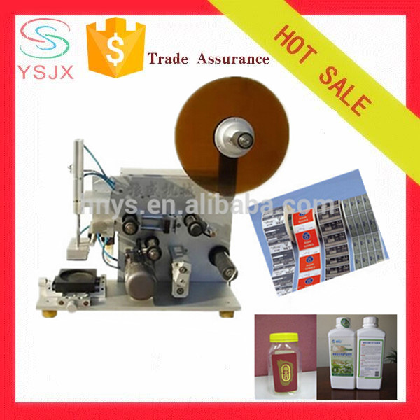 manual flat bottle labeling machine for small business