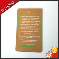 New Fancy Printed Brand Name Brown Paper China Hang Tag