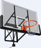 wall mounted adjustable basketball hoops/stand/pole