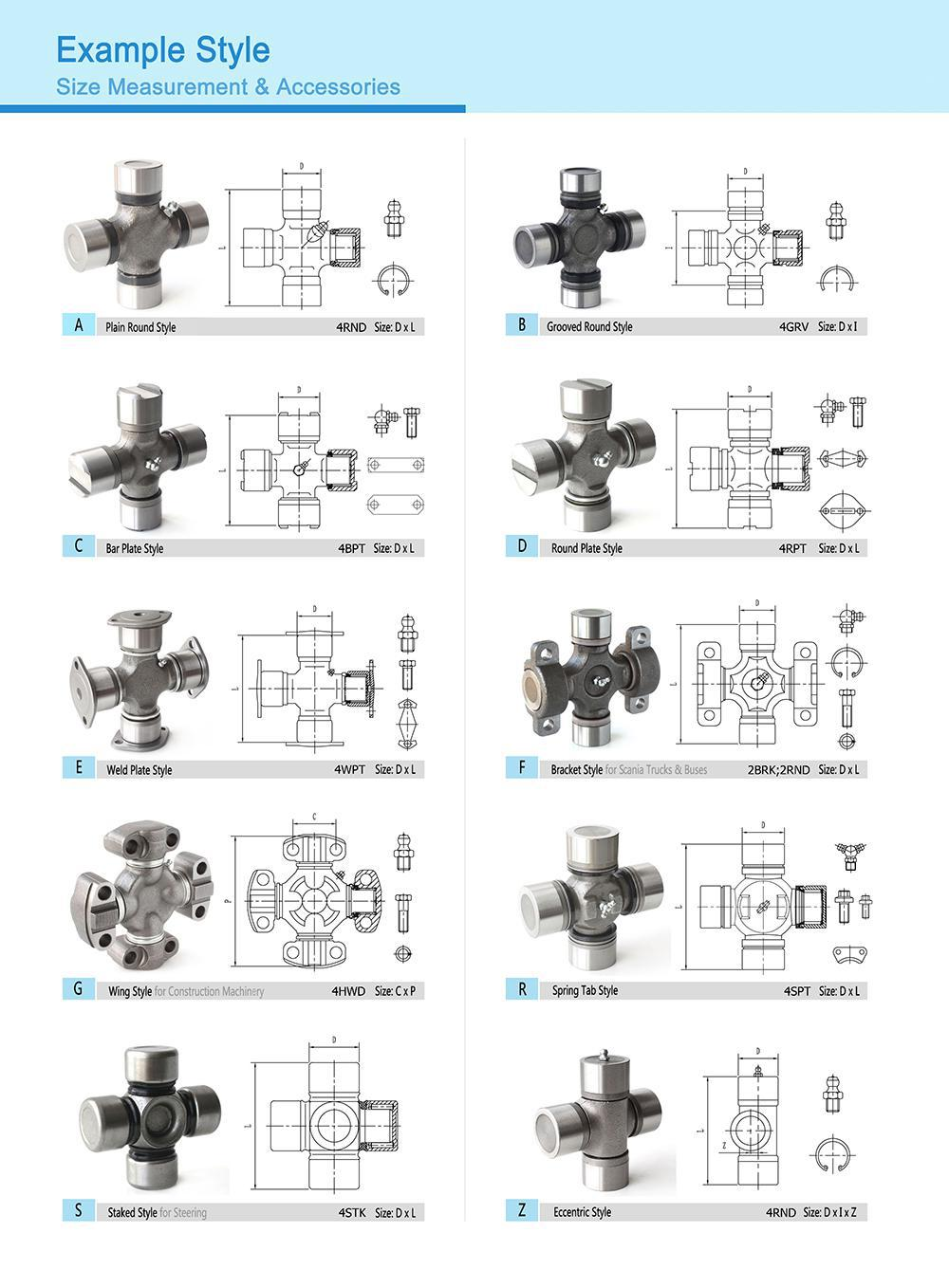 High power FULL WERK 5Y0767 universal joint cross bearing for Construction Machinary