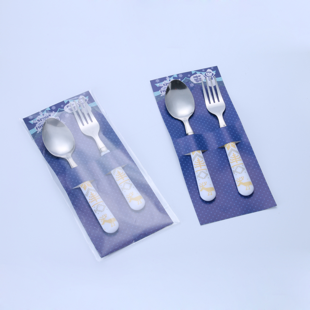 Hote Sale Supermarket Cutlery set of stainless steel spoon and fork set