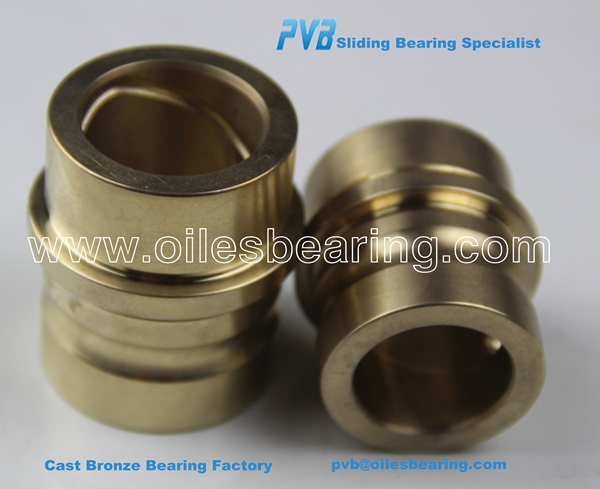 SAE40 flange guide bronze bushing,CuSn5Zn5Pb5-C copper cast bush,customized leaded gunmetal bronze bearing