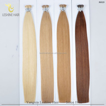 Top Quality Direct Factory Wholesale Virgin Russian Hair Double Drawn 2g strands i tip hair extensions