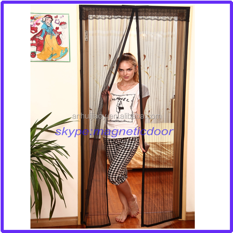 2017 new magnetic door curtain fly screen magnetic soft screen door