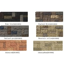 PU Faux stone Type and Tile Stone cheapest exterior wall cladding brick wall panel lowes