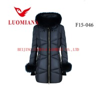 New fashion elegant korea winter women jacket model ladies coats top branded clothing with fur hood