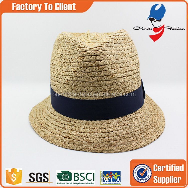 Excellent quality promotional folded straw cowboy hat