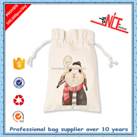 Hot sale small cotton pouch 100% cotton fabric bag with drawstring