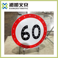 Customized arab xx led speed limit sign
