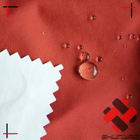228T full dull nylon taslon / taslan waterproof breathable fabric with milky wet process coating