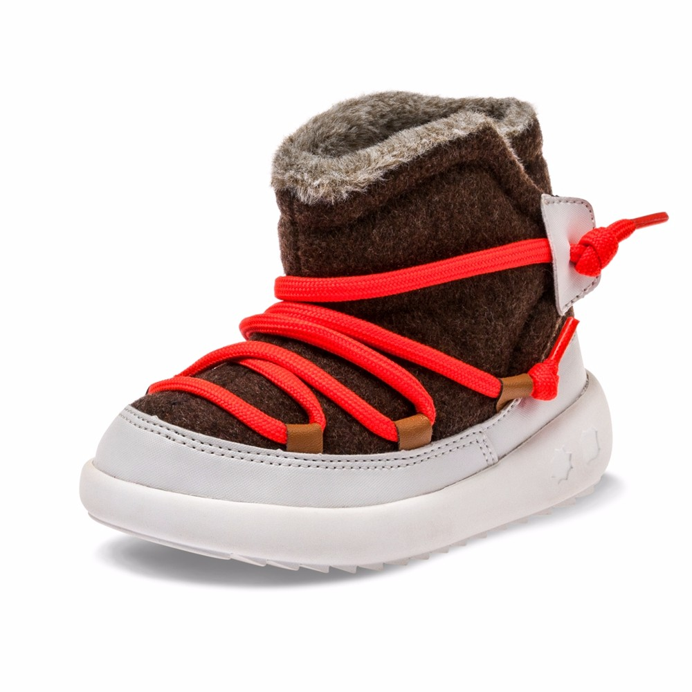 kids winter boots with fashion design