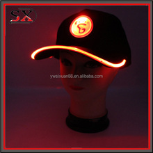 Wholesale Colorful Flashing Leds Hats,Led Snapback Cap,Led Blinking Cap With Logo Printed