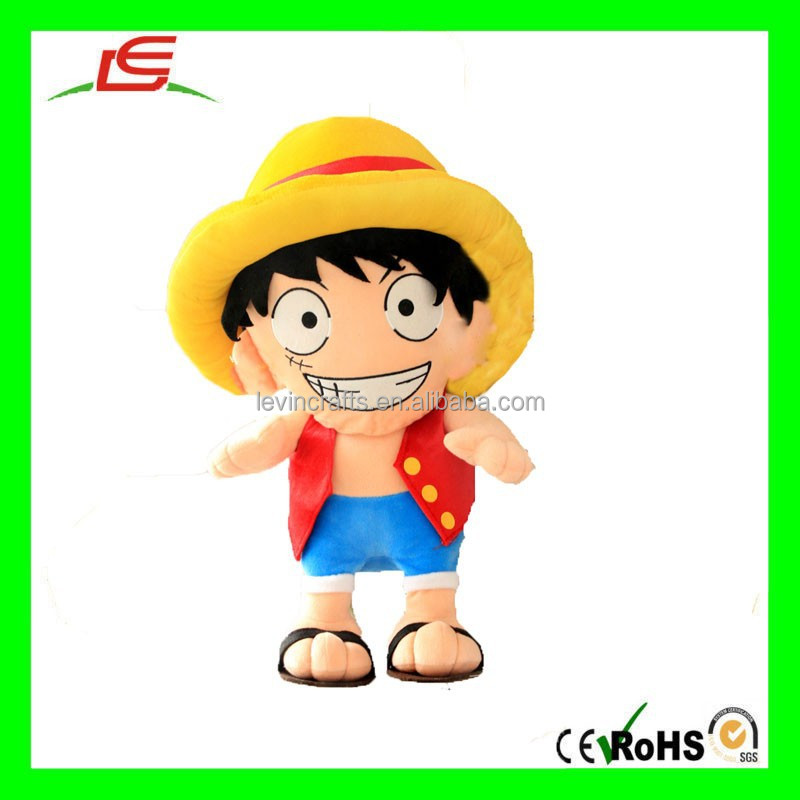 E496 Vivid One Piece Monkey D Luffy Plush Toys Stuffed Cartoon Doll