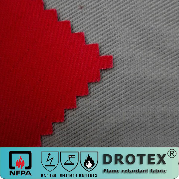 AATCC22 cvc Fireproof waterproof fabric textile for safety clothing