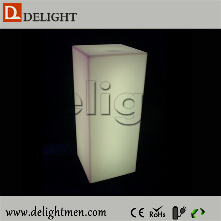 Wholesale glowing waterproof remote control color changing wholesale plastic wedding columns