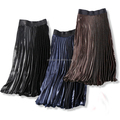 Latest women's clothes ladies long pleated skirt