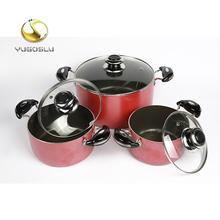 Cheap Eco-friendly 6pcs non-stick colorful coating kitchen cookware set, Non Stick Aluminum Sauce Pan