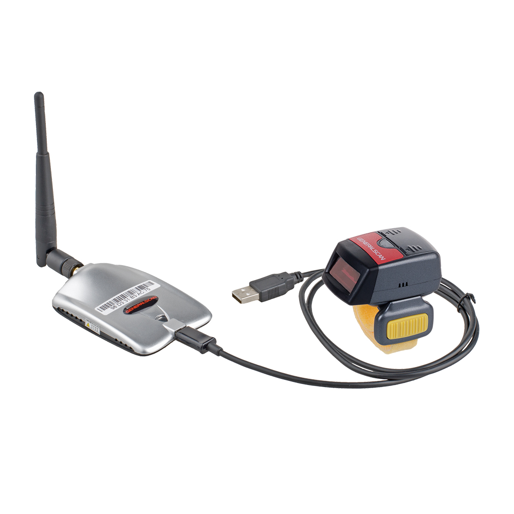 Hot SaleGeneralscan GS R1000BT 1D Laser Wireless <strong>Bluetooth</strong>/USB Wearable Ring Barcode Scanner with <strong>Bluetooth</strong> Adapter