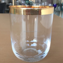 Factory price gold rim drinking water glass cup,shot glass