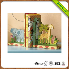 Animals Thematic Set of 2 Wooden Bookends