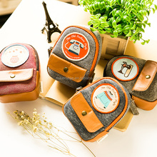 Languo canvas coin bag, backpack shape coin purse Item:LGJW-4399