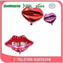 2015 Zhanhong hot sale high quality tooth/lip helium foil balloons for festival decoration