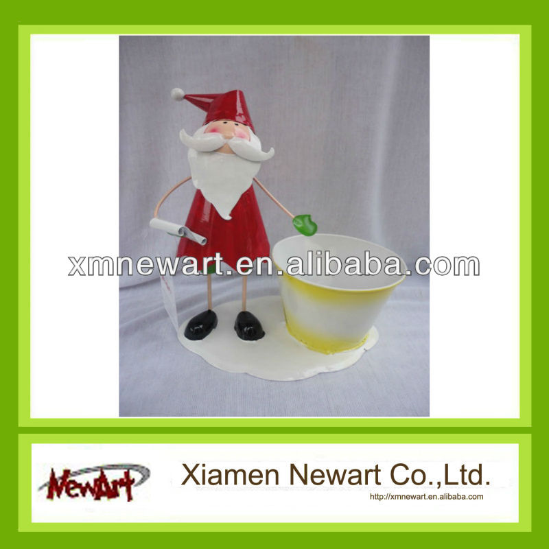 metal craft Christmas Santa Claus decoration
