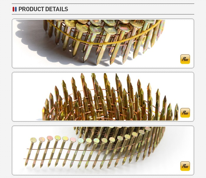 hot sale 1 1 4 coil Roofing Nail for sale manufacture in china
