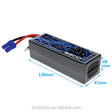 High quality 14.8 volt 5200mah lipo lithium ion car rechargeable battery for RC Model