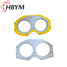 High Quality Manufacture DN200 DN230 Wear Spectcle Plate Glasses Plate And Cutting Ring For PM Putzmeister Concrete Pump Truck