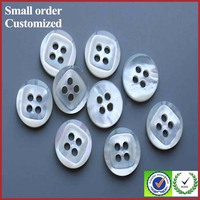 Fashion white plastic mother pearl and crystal buttons for shirts