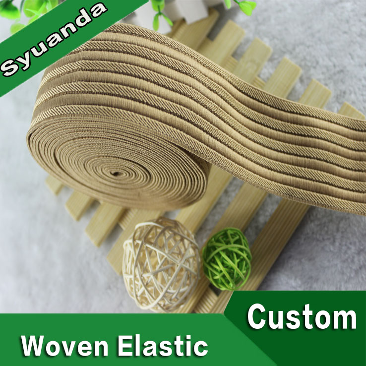 Manufactured Wide Stripe Polyester Woven Elastic Tape
