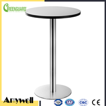 Amywell matte surface coffee shop 12mm fire retardant hpl laminate round table