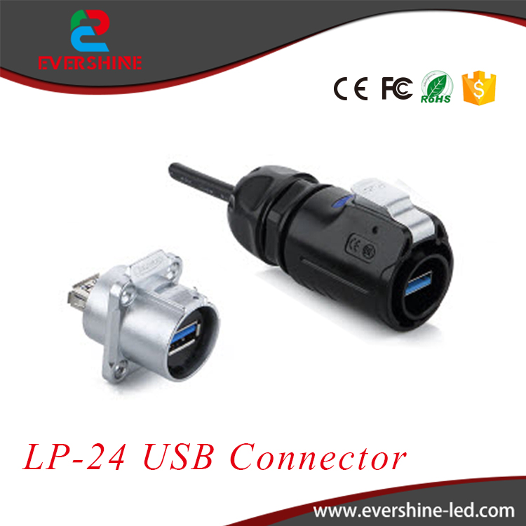 Alibaba Cnlinko LP-24 High Technology Data Link Connector IP67 USB3.0 Soldering Male Plug and Female Socket