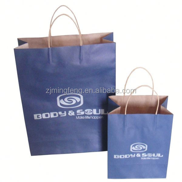 Paper Bag with handle shopping bag foil lined paper food packaging bag